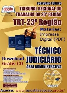 Apostila TRT23ª Região concurso Mato Grosso), Técnico Judiciário, TRT-MT.