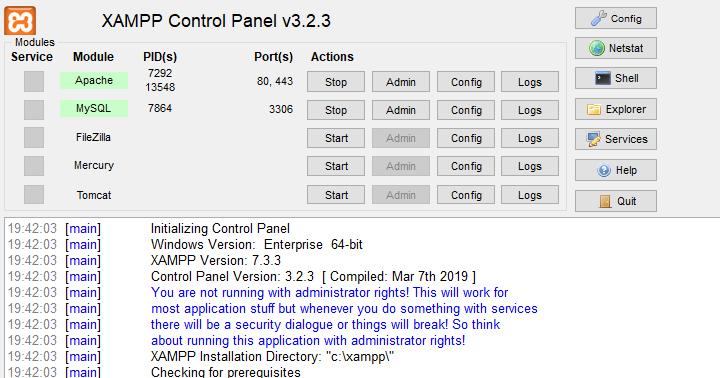 XAMPP 1.8.0 rilis 1,Oktober2012