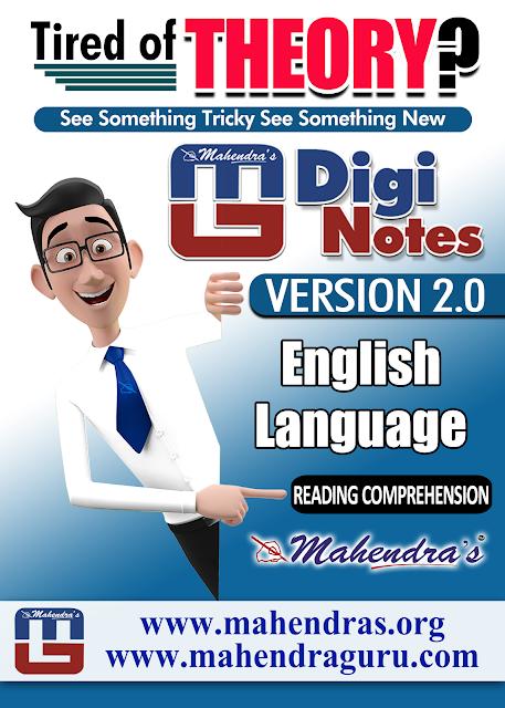 Digi Notes - 2.0 | Reading Comprehension | 06.07.2017