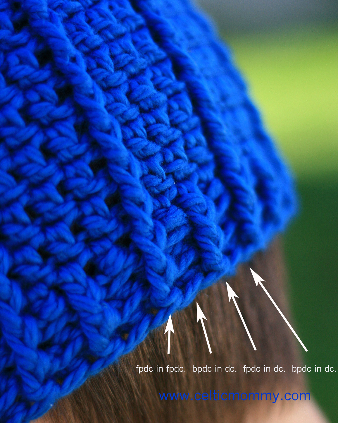 CelticMommy: Free Crochet Pattern: Rib Wrapped Cap For