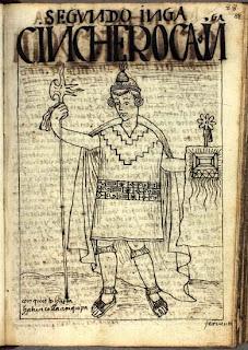 Inca Sinchi Roca dibujo de Felipe Guamán Poma de Ayala