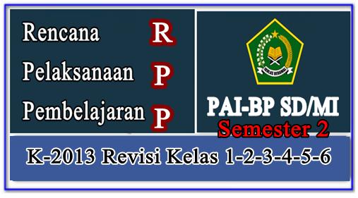 RPP PAIBP K-2013 Kelas 1,2,3,4,5,6 SD/MI Semester 2 Lengkap