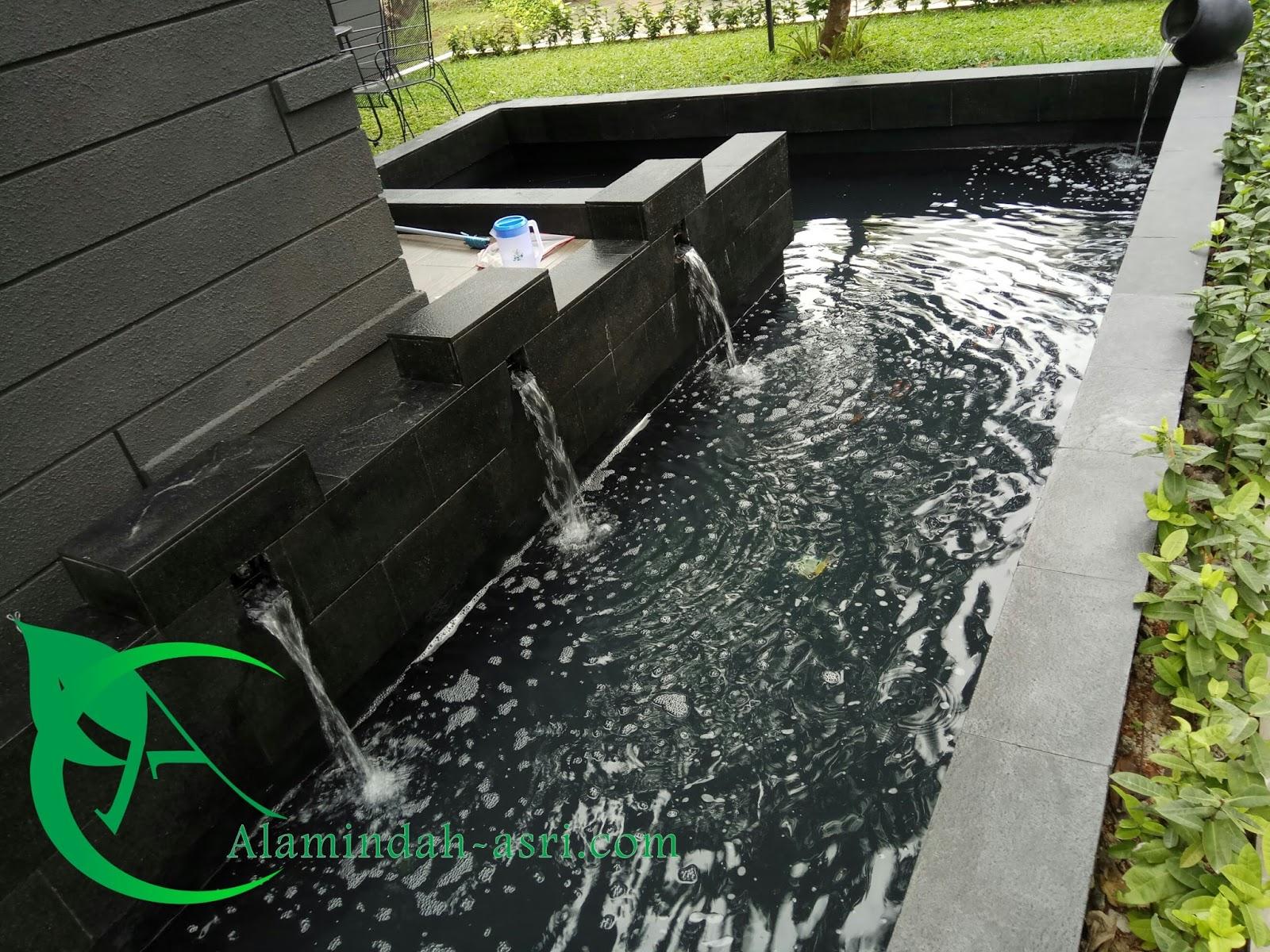 Jasa Pembuatan Kolam Koi Tukang Harga Flexycoat Waterponding 25 Kg Cat Ikan Minimalis