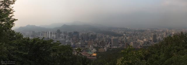 Сеул. Национальный парк Намсан. Панорамный вид на Сеул.