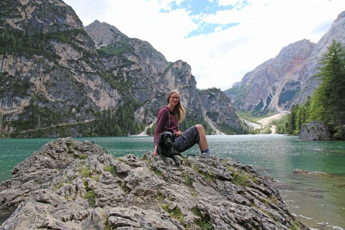 Wanderung mit Hund Pragser Wildsee