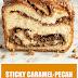 Sticky Caramel-Pecan Babka Loaves #desserts #babkaloaves