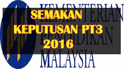 semakan keputusan pt3 2016