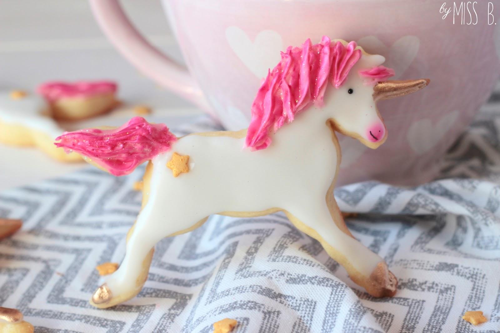 Mädchentraum: Pinke Einhorn Cookies
