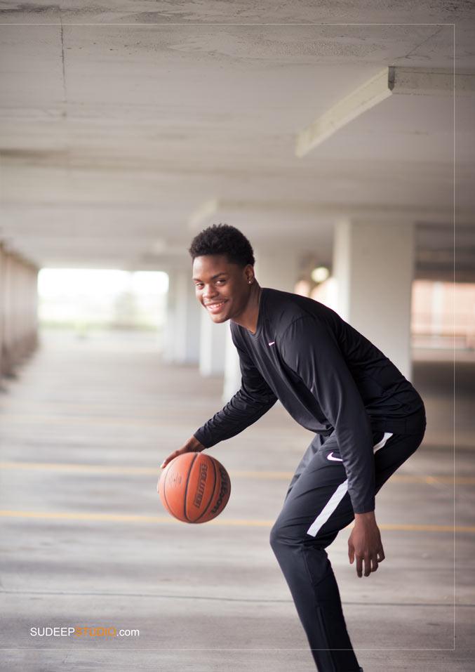 Ypsilanti Basketball Sports Theme Senior Picture - Sudeep Studio Ann Arbor Senior Pictures Photographer