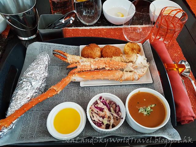 Celebrity Infinity, Speciality meal 餐廳, Qsine, 阿拉斯加蟹餐, Alaskan Crab