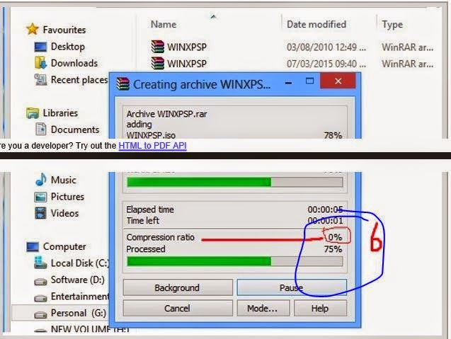 How to make Highly compressed rar or zip file using by winrar ratio
