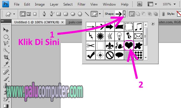 memunculkan icon di photoshop