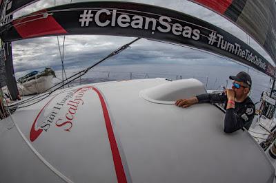 John Fisher est tombé à l'eau sur la Volvo Ocean Race