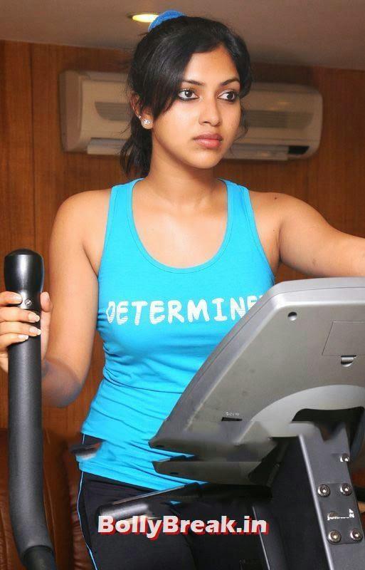 amala paul hot navel, Amala Paul - Tollywood Actress Hot Gym Pics