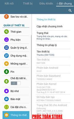 Tiếng Việt Samsung tab T335 alt