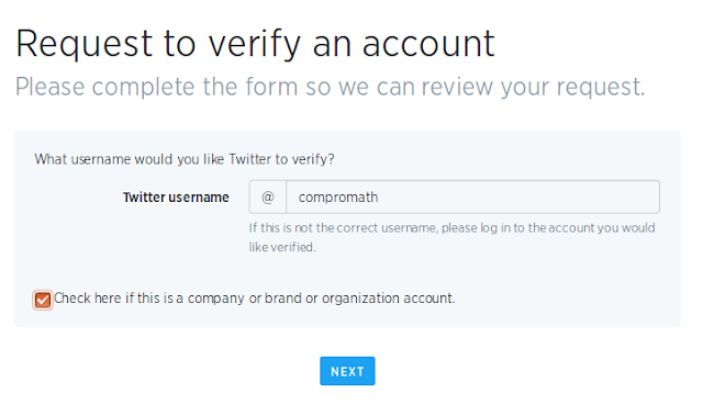 request to twitter verified blue badge