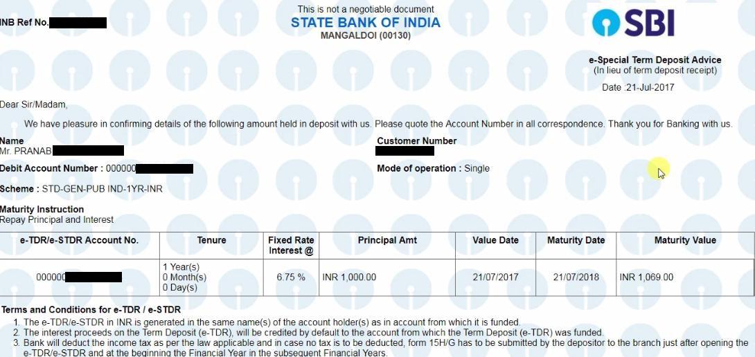 How To Online How To Open Fixed Deposit Account In Sbi