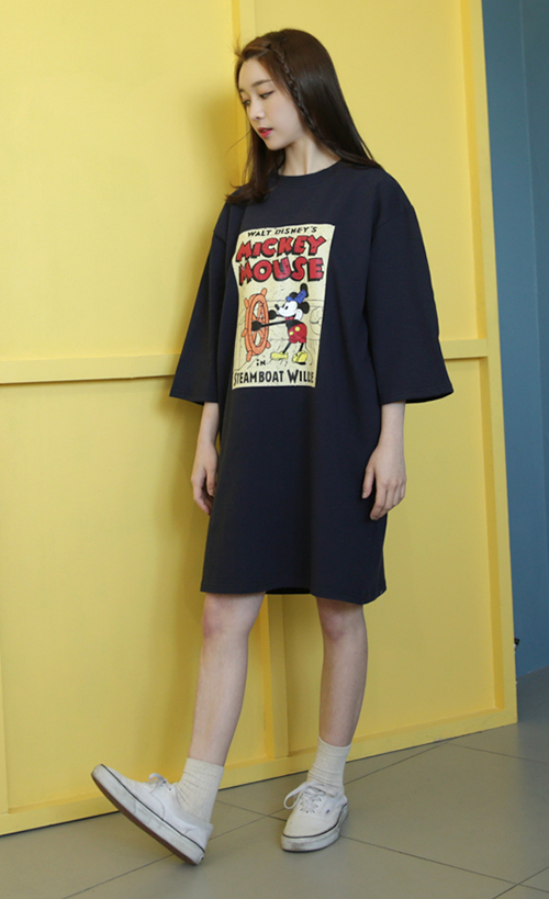 Classic Mickey Mouse Tee Dress