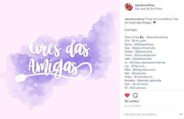 Cores das Amigas Grupo Instagram Facebook Esmaltes