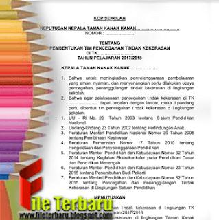 Download Contoh SK Sekolah Aman SD SMP Format Word