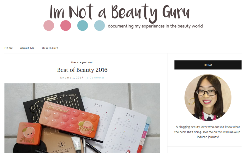 bbloggers, bbloggersca, canadian beauty bloggers, network, i'm not a beauty guru, featured blog, blog of the month
