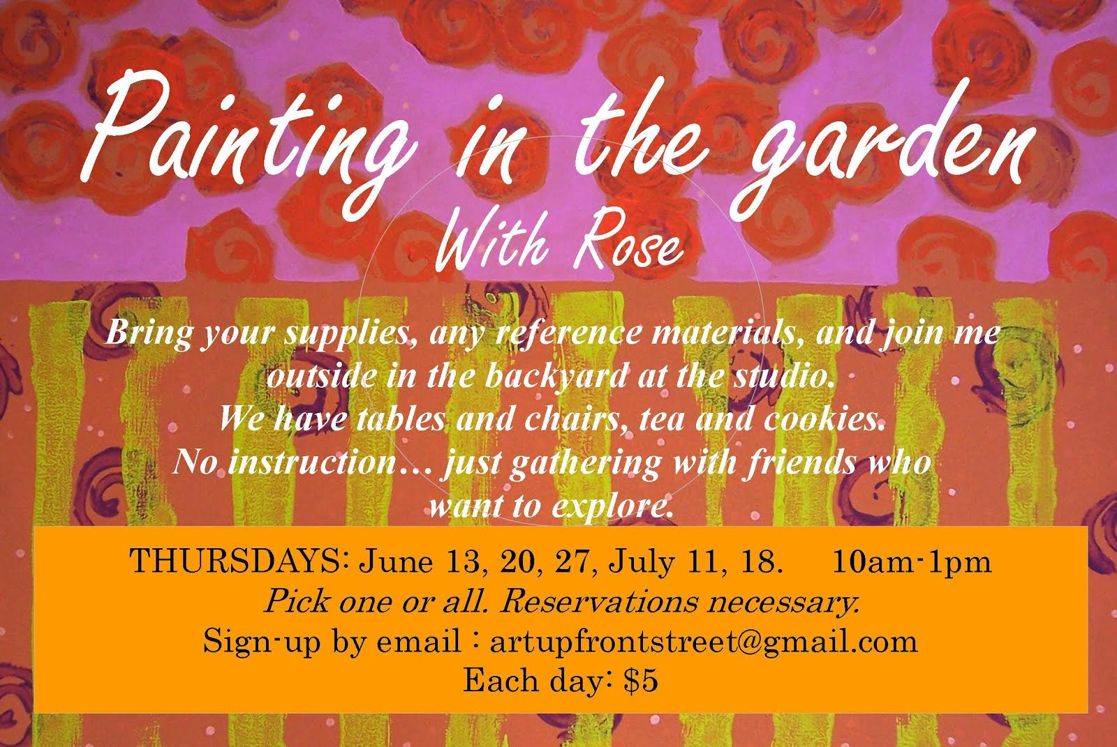 EVENT JUNE JULY PAINTING IN THE GARDEN
