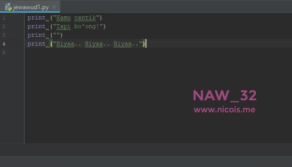 Belajar Bahasa Pemrograman Python Untuk Pemula Part 2: String dan Variabel