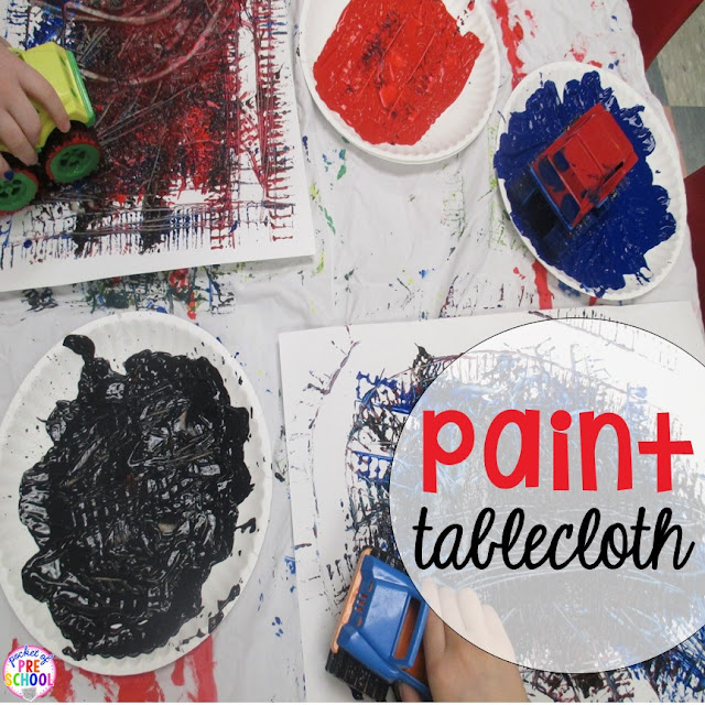 Keep your craft table free of paint and glue by using a paint tablecloth every time it's time for art class.