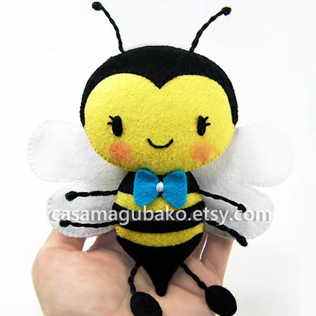 Felt Bee-Boy by casamagubako.com