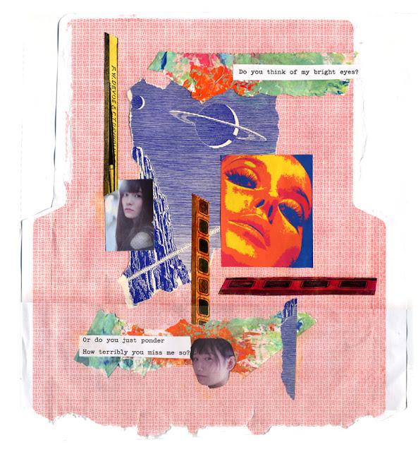 hand cut paper collage for Los Dias Contados - Jan 2018