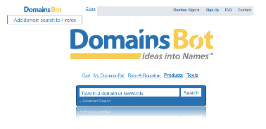 domainsbot domain suggestion tool