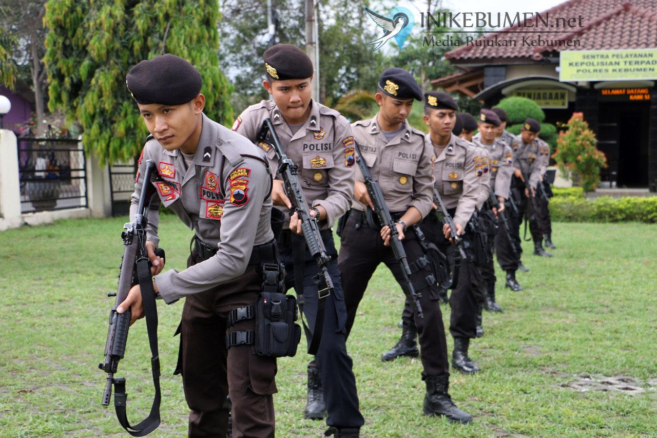 Jelang Pligub Jateng, Polres Kebumen Bentuk Pasukan Anti Teror