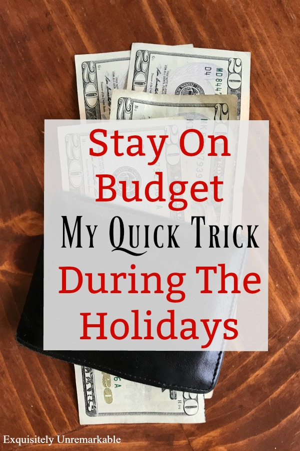 Stay On Budget With This Quick Trick During The Holidays