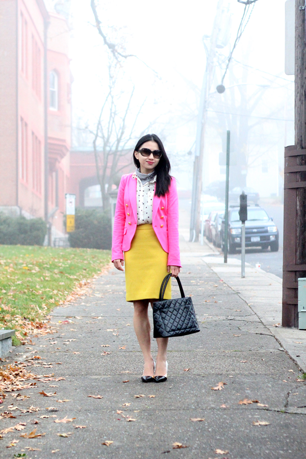 Stripes, Dots, Pink and Yellow