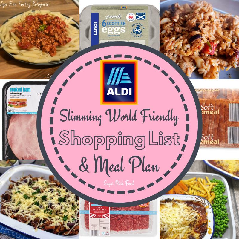 Aldi 7 Day Slimming World Friendly Meal Plan \u0026 Shopping List