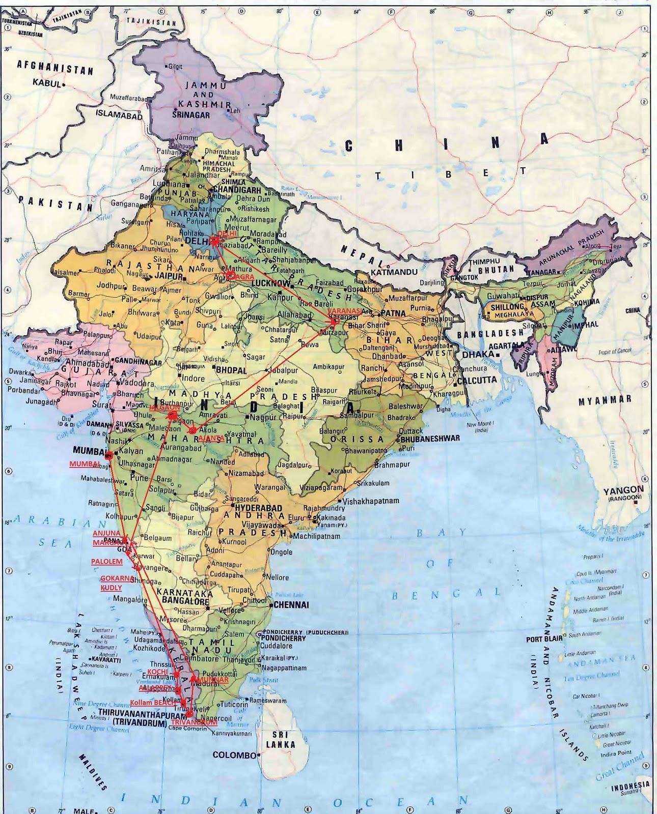 Korpin Siivin Plussapallero Intian Kartta