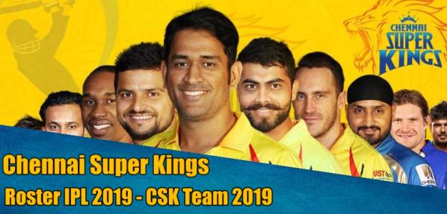 Chennai Super Kings Roster 2019