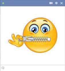 Mouth Shut Smiley 77