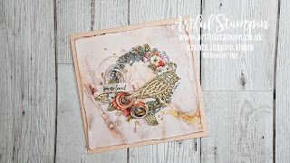 artful stampin up ruth trice demonstrator uk shabby chic card