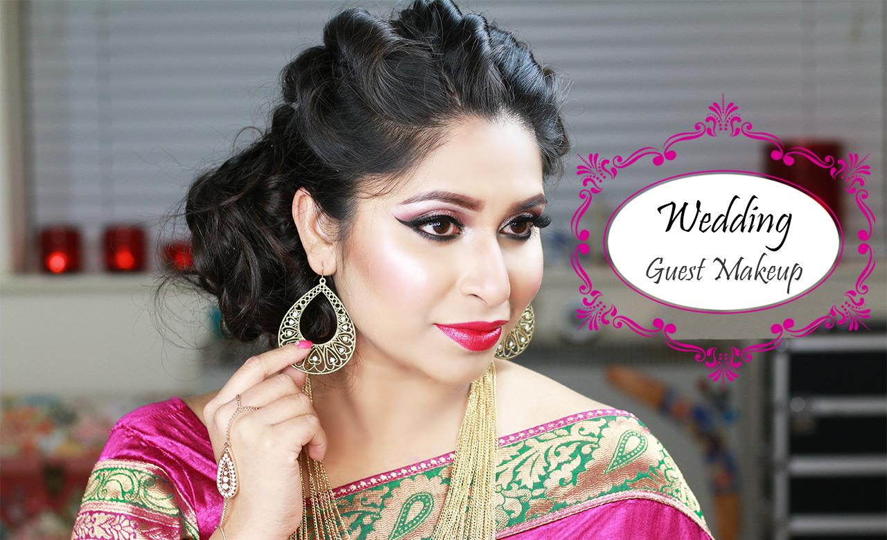 get ready with me | wedding guest makeup tutorial