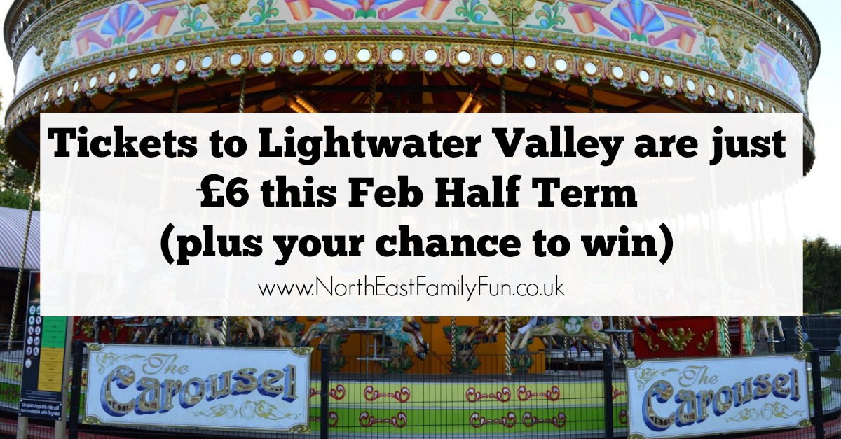 Buy cheap tickets to Lightwater Valley  for just £6 this February Half Term 2017. Plus win a family pass.