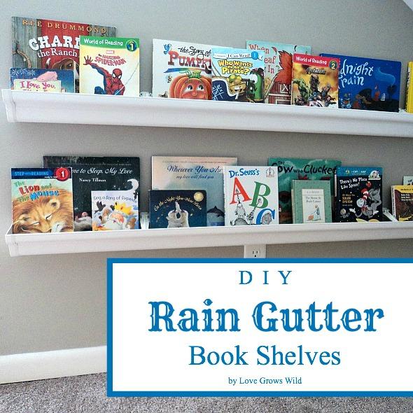 DIY Rain Gutter Book Shelvescute Quotes Happiness