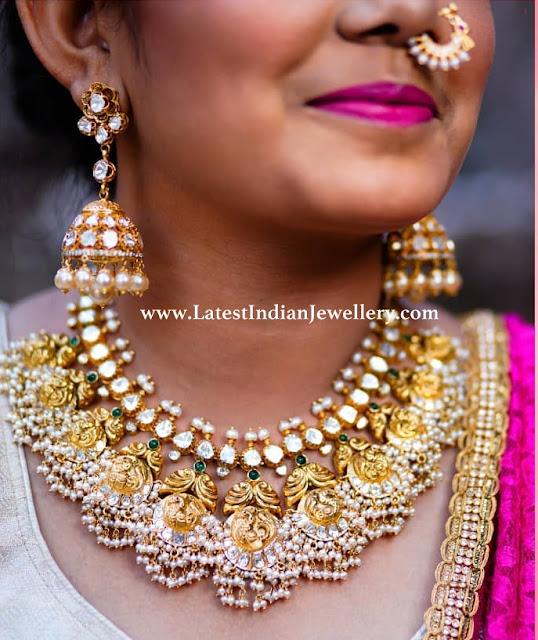 Fascinating Pachi Guttapusalu Necklace