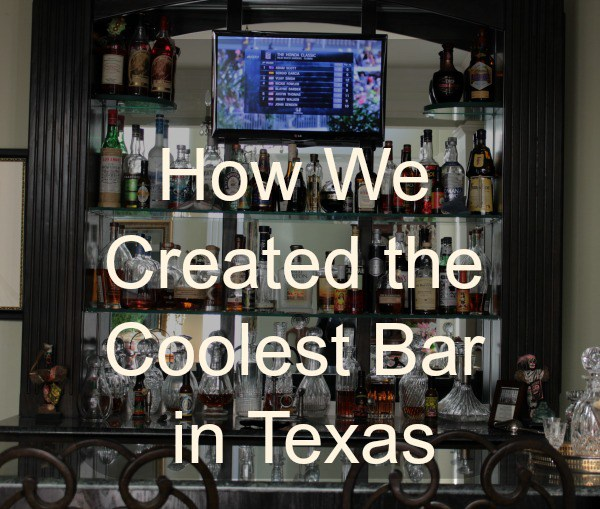 Bluesky kitchen, home tour, bar, man cave, in home bar, Texas bar