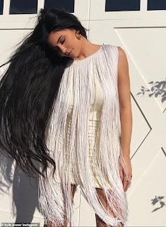 Kylie Jenner rocks white fringe dress with long tresses for glamorous Instagram post