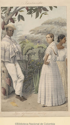 africano, arbol de cacao, acuarela, dos mujeres