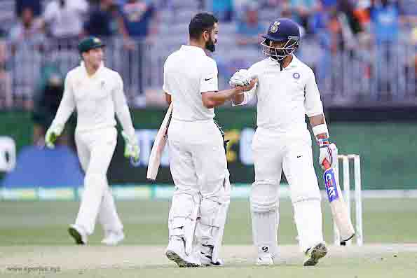 Kohli and Pujara departed, for 76 and 106 respectively