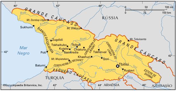GEÓRGIA, GEOGRAFIA E HISTÓRIA DA GEÓRGIA