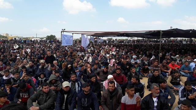 #صور جانب من خطبة وصلاة الجمعة في مخيم العودة شرق بلدة خزاعة
