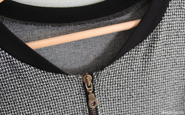 stitchydoo: Blousonjacke von leni pepunkt aus Hahnentritt Jacquard-Jersey
